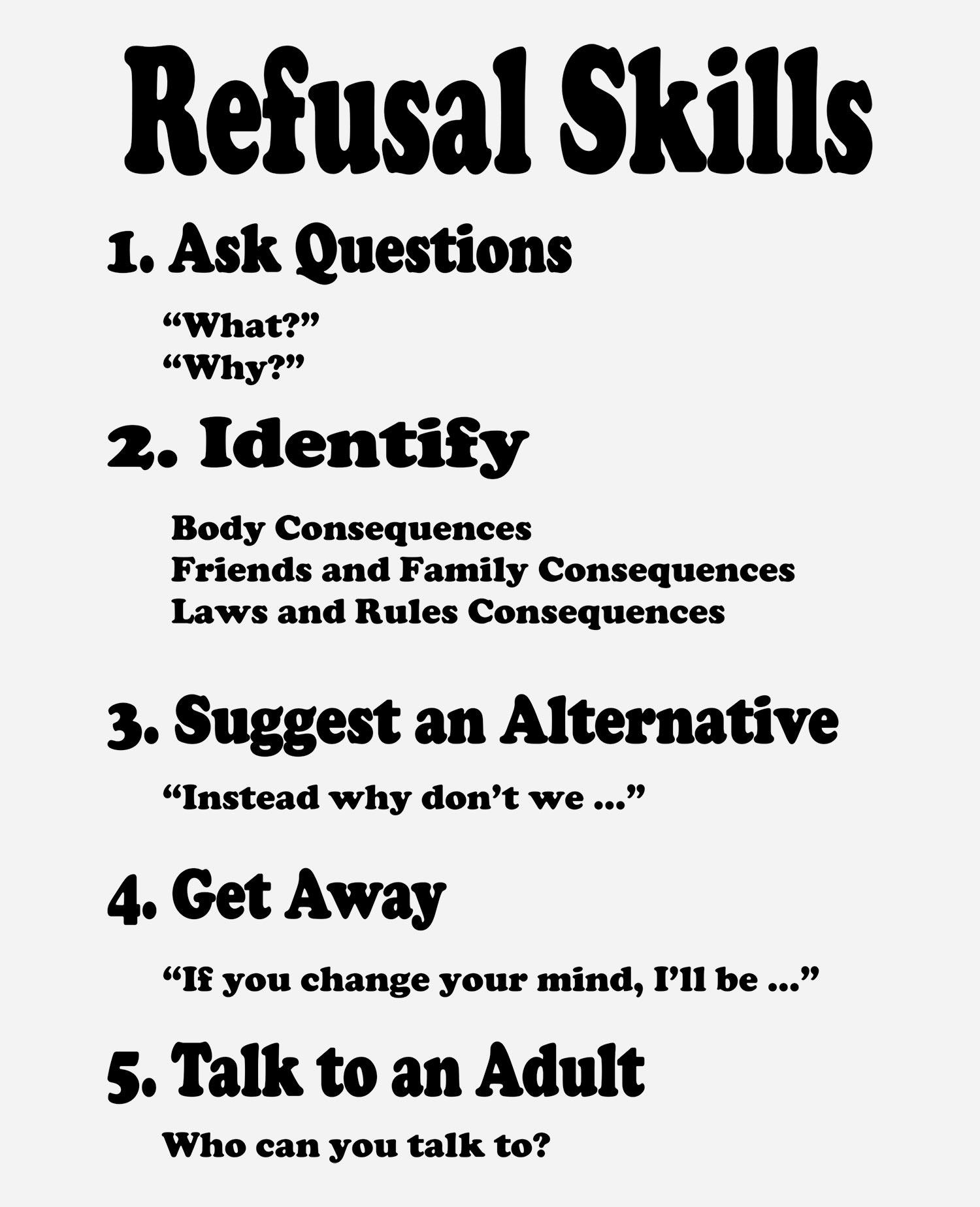 Refusal Skills Poster-1