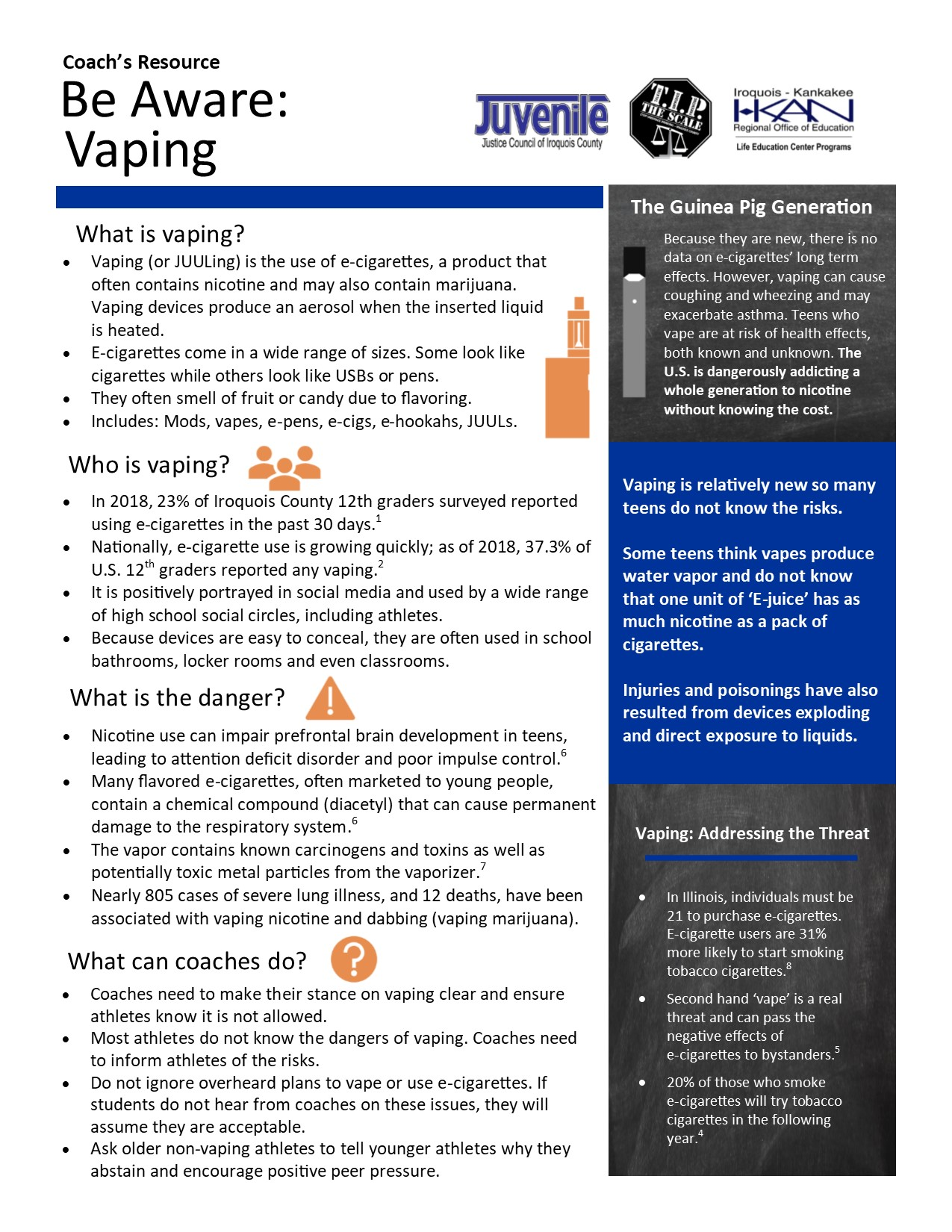 TIP 5 Coach's Resources edits Vaping 10.15.19