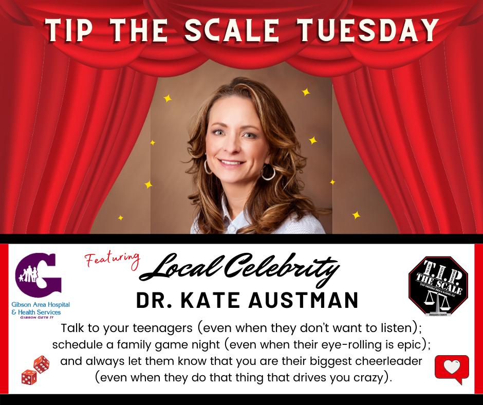 TIP Celebrity Feature Dr. Katherine Austman FB Graphic