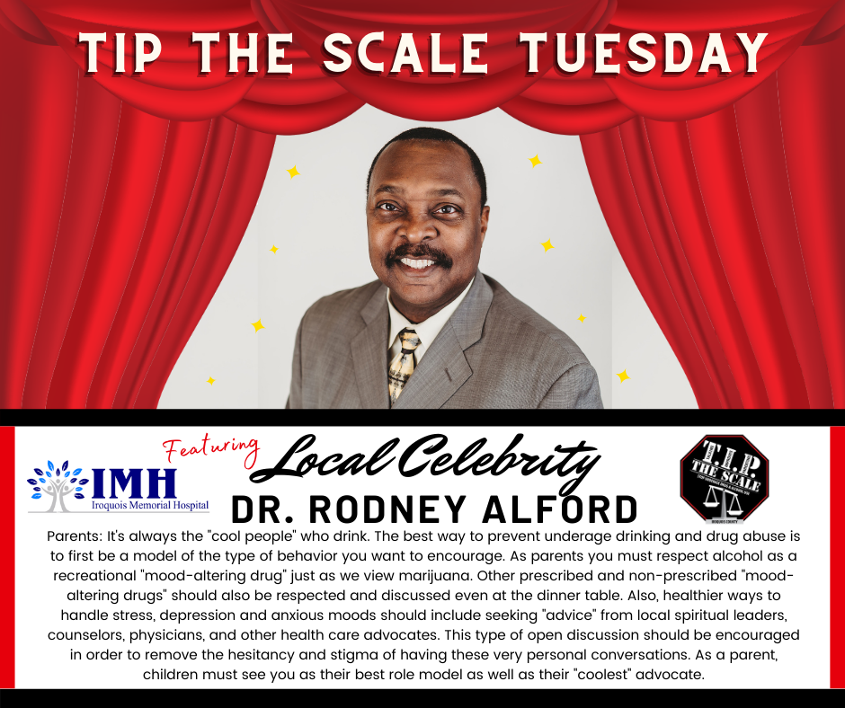 TIP Celebrity Feature Dr. Rodney Alford FB Graphic