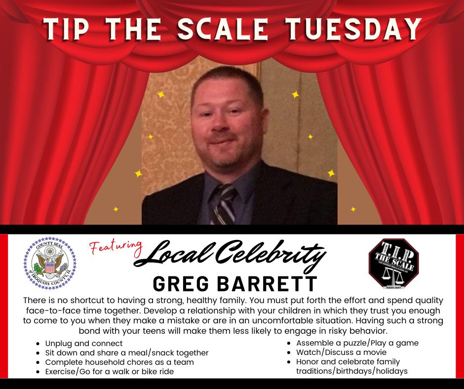 TIP Celebrity Feature Greg Barrett Graphic