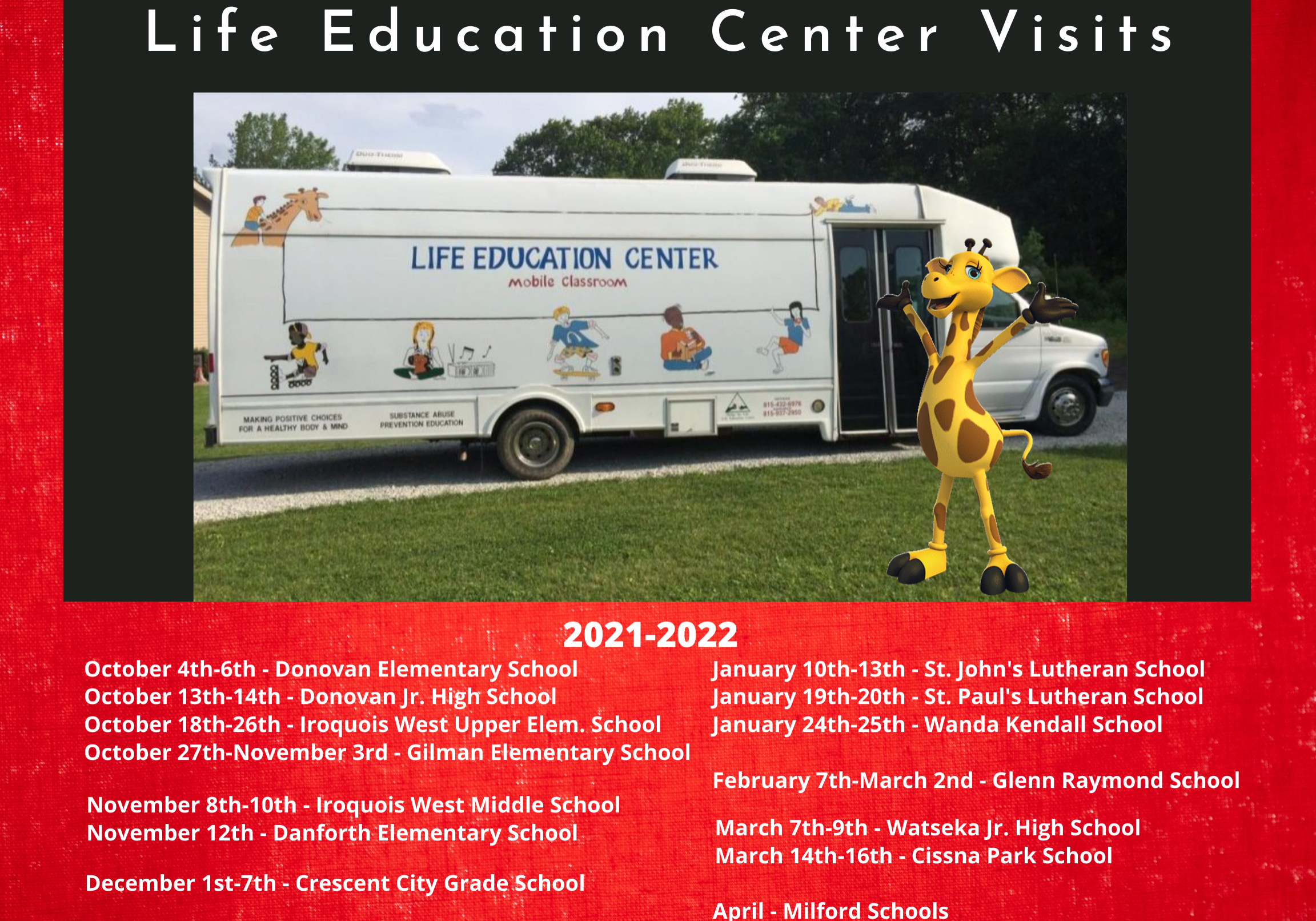 2021-2022 Iroquois County LEC Visit Schedule for Website